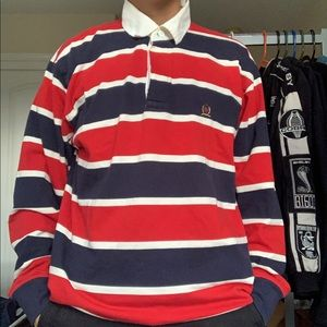 vintage Tommy Hilfiger striped long sleeve shirt